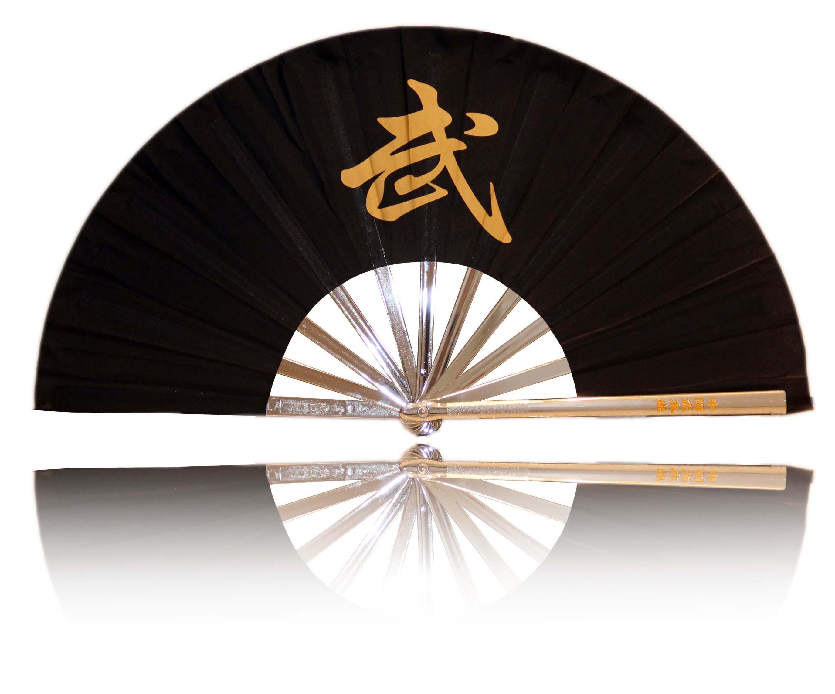 Premium Fächer Tai Chi und Kung Fu, schwarz