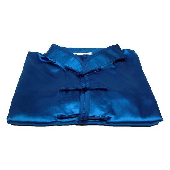 Tai Chi Anzug aus Satin, blau