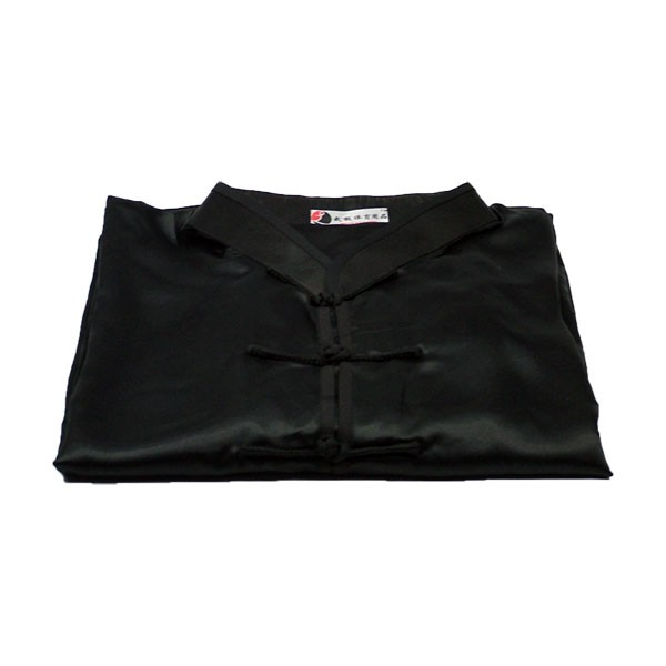 Tai Chi Anzug aus Satin, schwarz