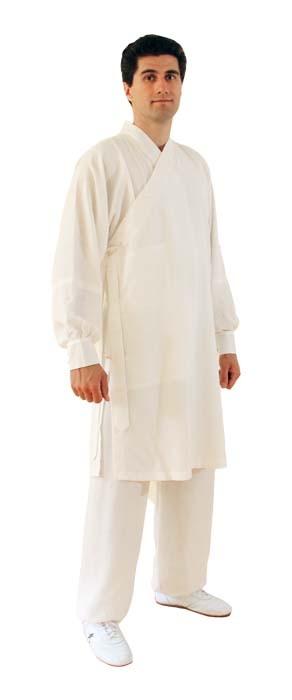 Kung Fu/ Tai Chi Wu Dang Anzug Robe weiß