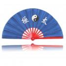 Tai Chi Fächer Blau/ Rot mit Tai Chi Zeichen
